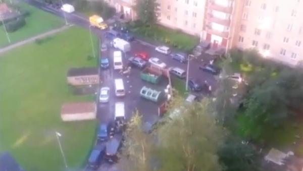 Bylo publikováno video z místa speciální operace na zadržení ozbrojenců v Petrohradě - Sputnik Česká republika
