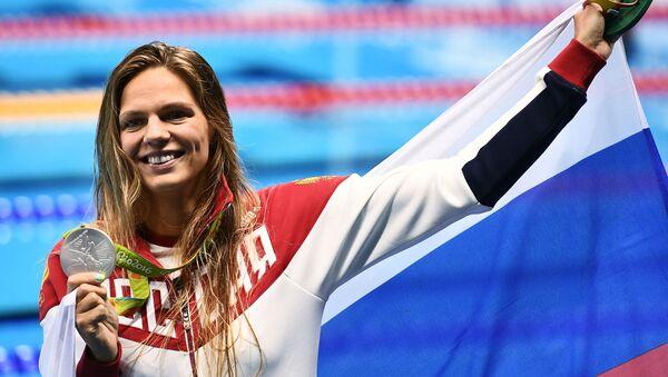 Julia Jefimovová, držitelka stříbrné medaile v plavání žen 200 m prsa - Sputnik Česká republika