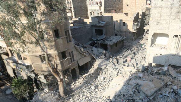 Zničené budovy v Aleppu, Sýrie - Sputnik Česká republika