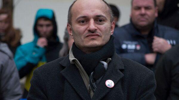 Martin Konvička na protestní akci - Sputnik Česká republika