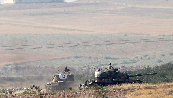Turecké tanky v Sýrii - Sputnik Česká republika