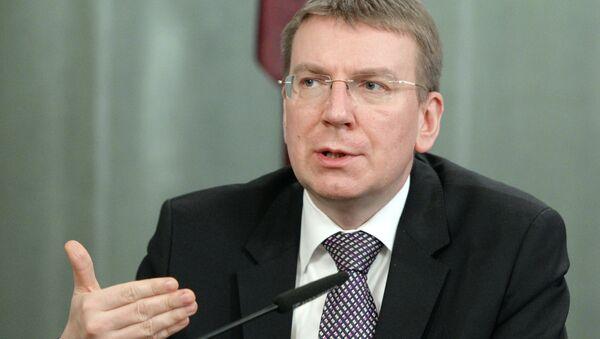 Ministr zahraničních věcí Lotyšska Edgars Rinkēvičs - Sputnik Česká republika
