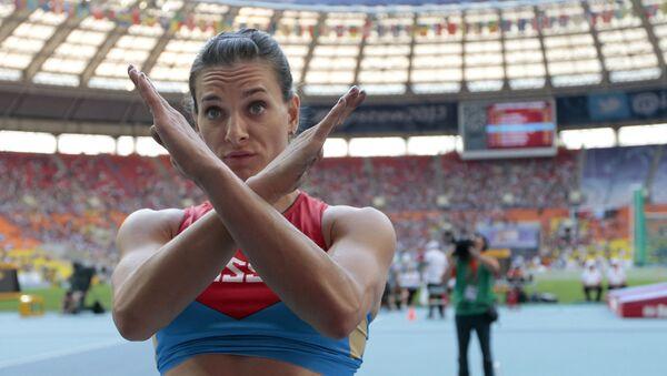 Dvojnásobná olympijská vítězka ve skoku o tyči Jelena Isinbajevová - Sputnik Česká republika