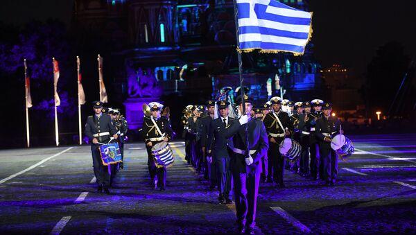 Řecký vojenský orchestr na Rudém náměstí - Sputnik Česká republika