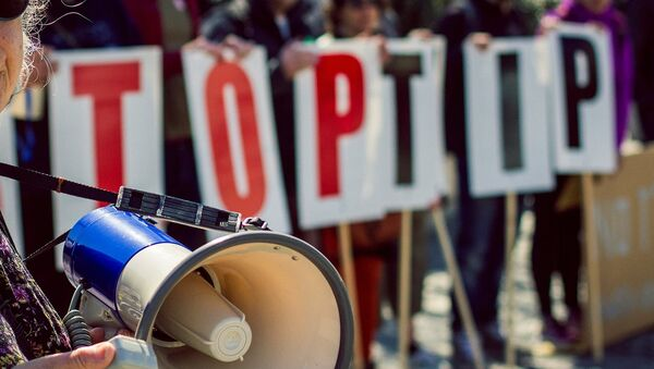 Mítink proti TTIP v Bristolu - Sputnik Česká republika