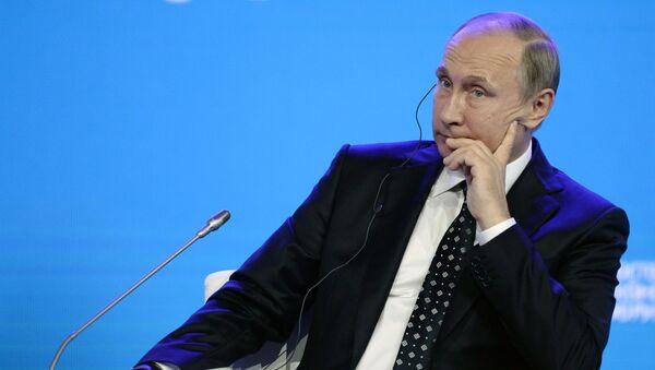 Ruský prezident Vladimir Putin během Dálněvýchodního fóra - Sputnik Česká republika