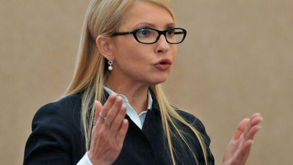Předsedkyně parlamentní frakce Baťkivščyna Julie Tymošenková - Sputnik Česká republika