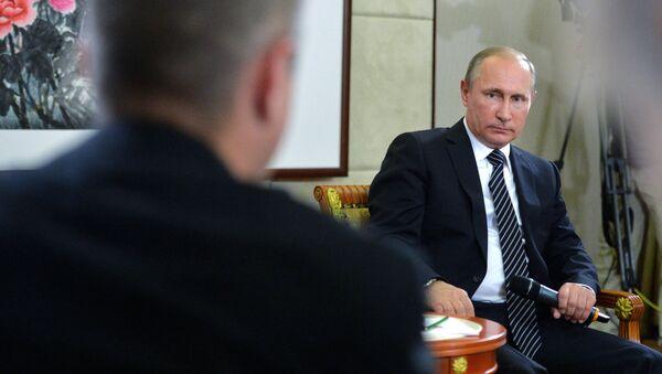Ruský prezident Vladimir Putin během tiskové konference po fóru G20 - Sputnik Česká republika