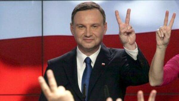 Polský prezidentský kandidát Andrzej Duda - Sputnik Česká republika
