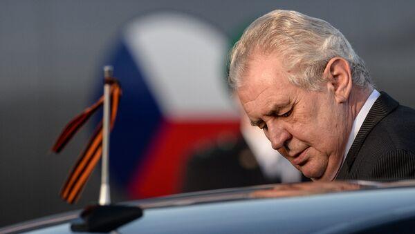 Český prezident Miloš Zeman v Moskvě - Sputnik Česká republika