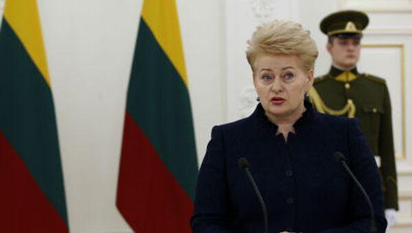 Litevská prezidentka Dalia Grybauskaitė - Sputnik Česká republika