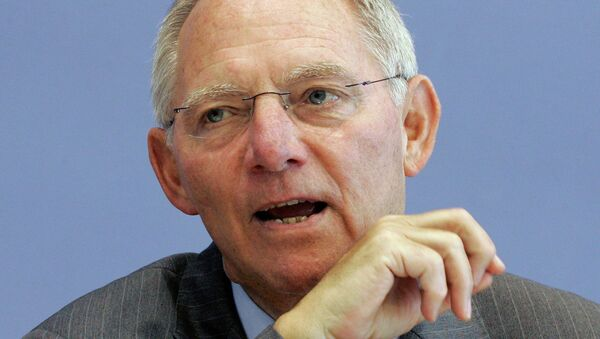 Spolkový ministr financí Wolfgang Schäuble - Sputnik Česká republika