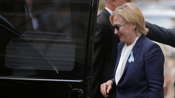 Kandidátka na prezidentský post za Demokratickou stranu USA Hillary Clintonová - Sputnik Česká republika