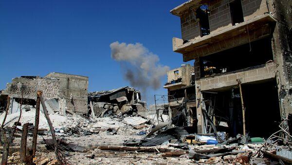 Osvobozený obvod Ramuse v Aleppu - Sputnik Česká republika