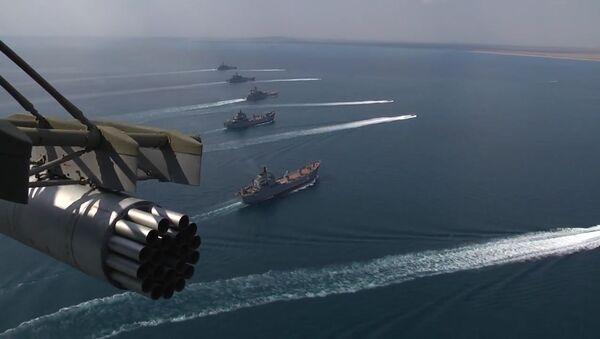 Lodě Černomořské a Kaspické flotily v rámci cvičení Kavkaz 2016 - Sputnik Česká republika