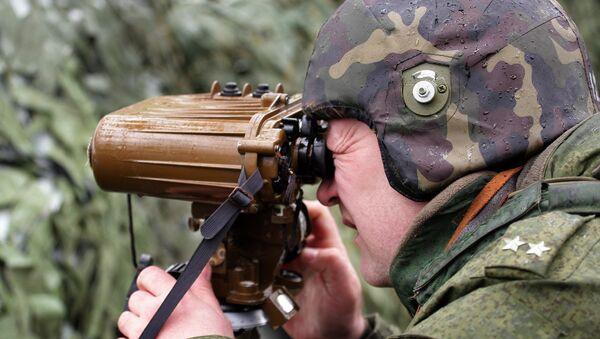 Příslušník ministerstva vnitra RF během cvičení na Krymu - Sputnik Česká republika