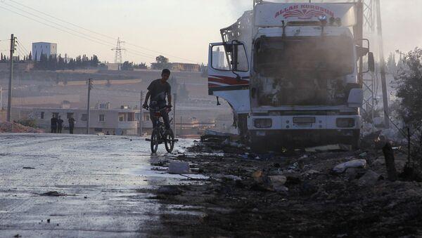 Humanitární konvoj OSN po ostřelování v Sýrii - Sputnik Česká republika
