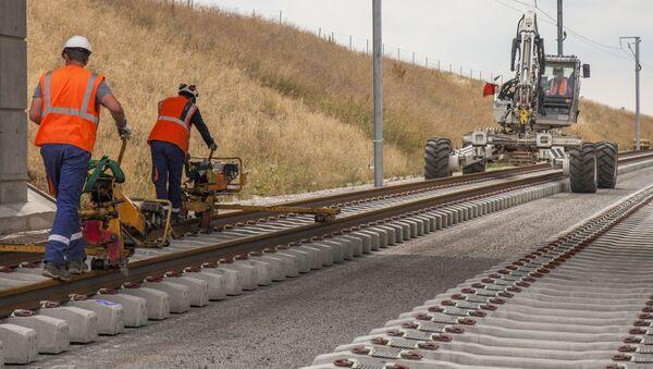 Stavba nové železnice - Sputnik Česká republika