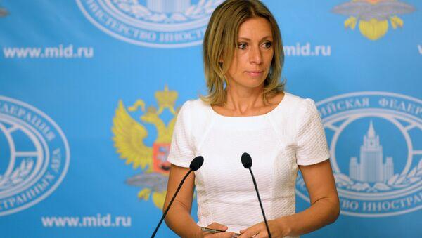 Tisková mluvčí Ministerstva zahraničních věcí Ruska Maria Zacharovová - Sputnik Česká republika