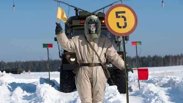 Trénink jednotek chemické, biologické a radiační ochrany v Sverdlovské oblasti - Sputnik Česká republika