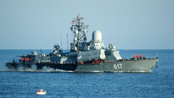 Malá raketová loď Černomořské flotily Miráž (projekt 1234) - Sputnik Česká republika