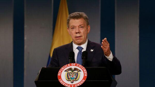 Kolumbijský prezident Juan Manuel Santos - Sputnik Česká republika
