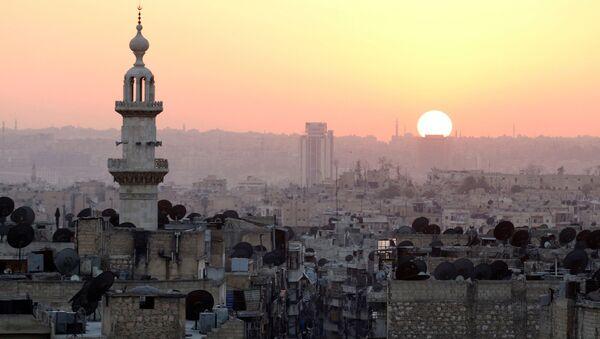 Západ slunce nad Aleppem - Sputnik Česká republika