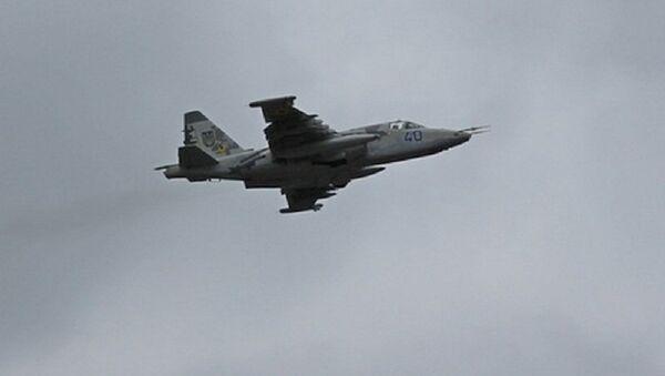 Ukrajinská stíhačka Su-25 - Sputnik Česká republika