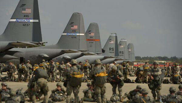 Americká letecká základna Ramstein v Německu - Sputnik Česká republika