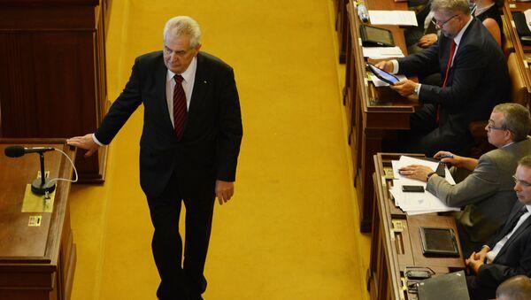 Český prezident Miloš Zeman v parlamentu - Sputnik Česká republika