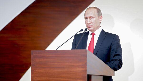 Vladimir Putin během summitu BRICS - Sputnik Česká republika
