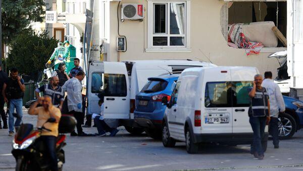 Полиция на месте взрыва в турецком городе Газиантеп - Sputnik Česká republika