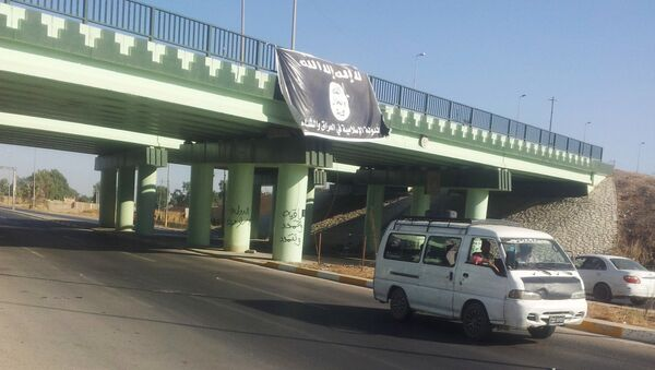 Vlajka Daiš u Mosulu - Sputnik Česká republika