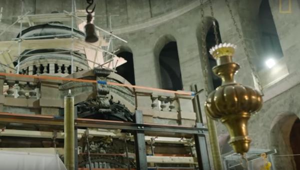 Bylo zveřejněno video otevření Ježíšova hrobu - Sputnik Česká republika