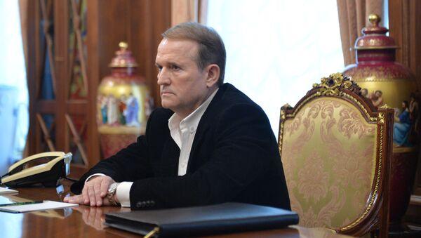 Lídr hnutí Ukrajinská volba – právo národa Viktor Medvědčuk - Sputnik Česká republika