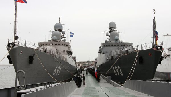 Hlídkové lodě Tatarstan a Dagestan - Sputnik Česká republika