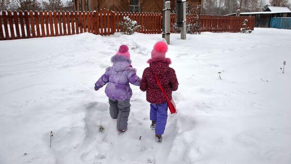 Děti v ruské vesnici. Ilustrační foto - Sputnik Česká republika