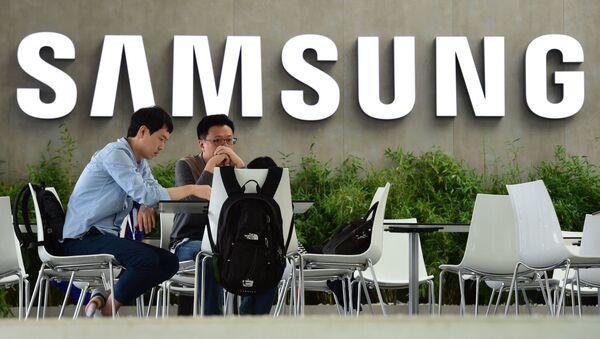 logo společnosti Samsung v Jižní Koreji - Sputnik Česká republika