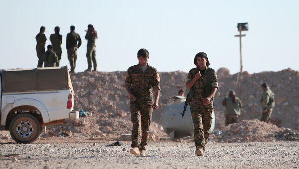 Příslušníci kurdských demokratických sil - Sputnik Česká republika