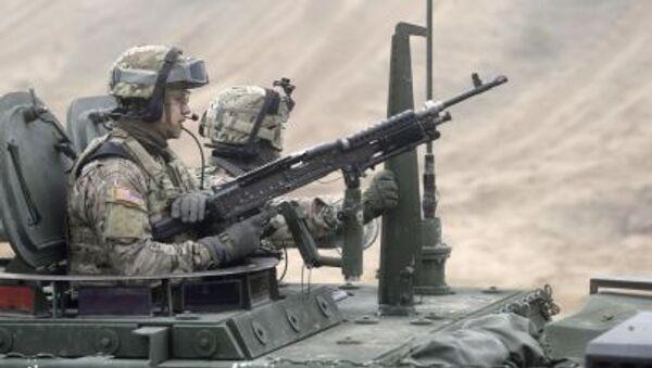 Američtí vojáci během cvičení v Lotyšsku - Sputnik Česká republika