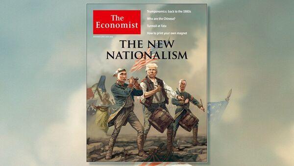 The Economist dal na obálku karikaturu Putina, Trumpa a Le Penové - Sputnik Česká republika