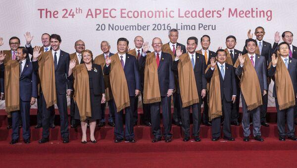 Společné fotografování  na summitu APEC - Sputnik Česká republika