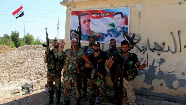 Syrští vojáci v provincii Aleppo - Sputnik Česká republika