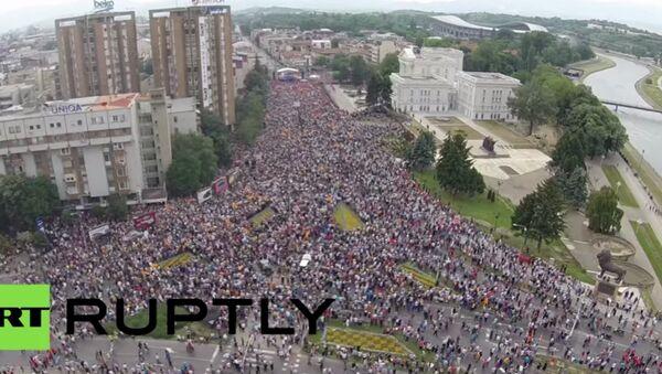 Protivládní protesty ve Skopje - Sputnik Česká republika