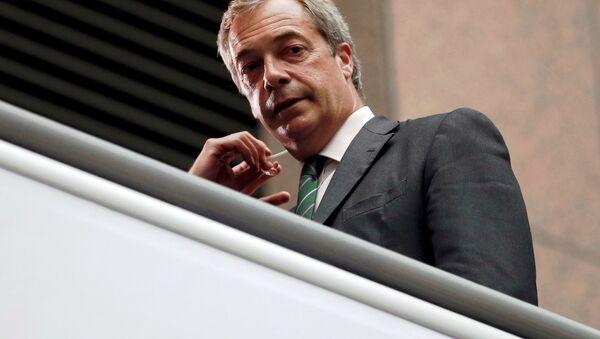 Bývalý lídr britské Strany nezávislosti (UKIP), europoslanec Nigel Farage. - Sputnik Česká republika