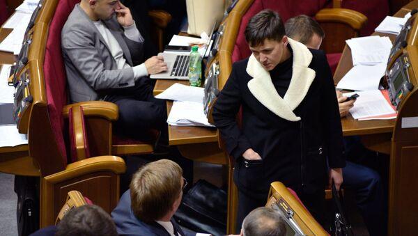 Poslankyně Nejvyšší rady Naděžda Savčenková - Sputnik Česká republika