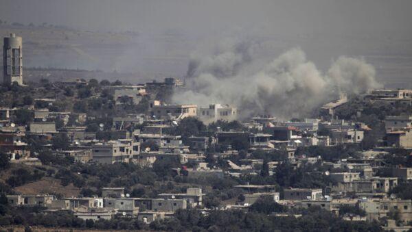 Syrské město na Golanských výšinách, na které zaútočila izraelská letadla. Ilustrační foto - Sputnik Česká republika