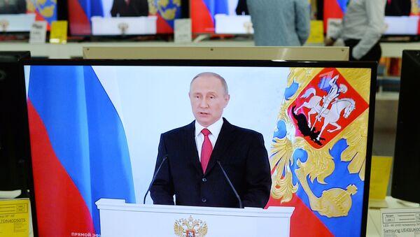 Živý přenos vystoupení prezidenta Ruska Vladimira Putina - Sputnik Česká republika