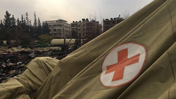 Мобильный госпиталь министерства обороны РФ в Алеппо после обстрела - Sputnik Česká republika