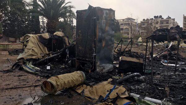 Ruský špitál v Aleppu po ostřelování - Sputnik Česká republika